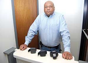 Inc Displays Three Devices That Monitor The Activities Of Criminals Including Latest Version Scram Bracelet Middle Device